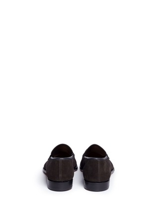 Back View - Click To Enlarge - George Cleverley - 'George' suede penny loafers