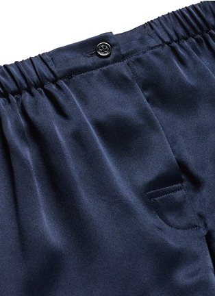 Detail View - Click To Enlarge - Araks - 'Tia' silk charmeuse boxer shorts