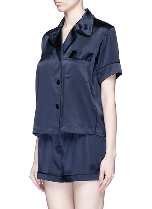 Figure View - Click To Enlarge - Araks - 'Shelby' silk charmeuse pyjama top