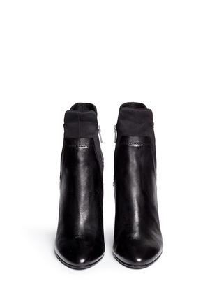 Front View - Click To Enlarge - Ash - 'Bazar' neoprene panel leather ankle boots
