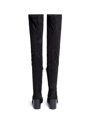 Back View - Click To Enlarge - Ash - 'Elisa' stretch faux suede thigh high boots