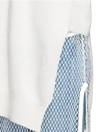 Detail View - Click To Enlarge - TOGA ARCHIVES - Fishnet mesh combo wool sweater dress