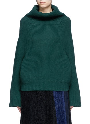 Main View - Click To Enlarge - TOGA ARCHIVES - Merino wool turtleneck sweater