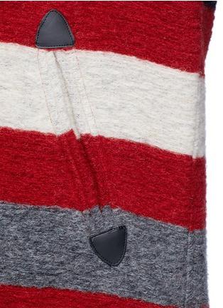 Detail View - Click To Enlarge - Isabel Marant Étoile - 'Gabrie' stripe wool blend bouclé jacket