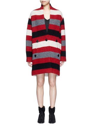 Main View - Click To Enlarge - Isabel Marant Étoile - 'Gabrie' stripe wool blend bouclé jacket