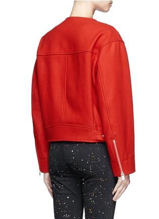 Back View - Click To Enlarge - ISABEL MARANT ÉTOILE - 'Esther' felted virgin wool-cashmere biker jacket