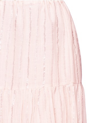 Detail View - Click To Enlarge - Isabel Marant Étoile - 'Silvio' metallic stripe drawstring waist midi skirt