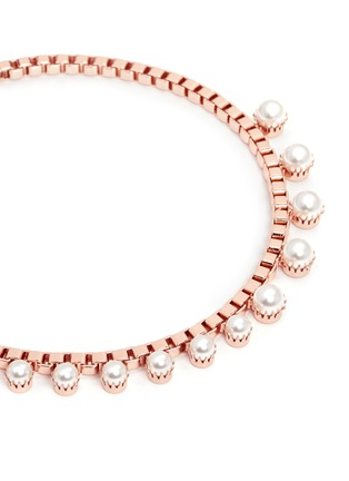 Detail View - Click To Enlarge - Joomi Lim - 'True Innocence' faux pearl chain necklace