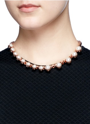 Figure View - Click To Enlarge - Joomi Lim - 'True Innocence' faux pearl chain necklace