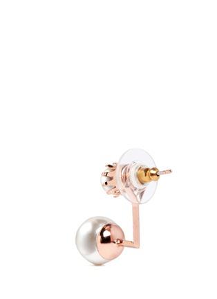 Detail View - Click To Enlarge - Joomi Lim - 'True Innocence' floating faux pearl stud earrings
