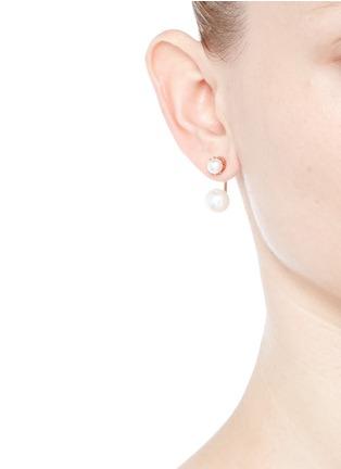 Figure View - Click To Enlarge - Joomi Lim - 'True Innocence' floating faux pearl stud earrings