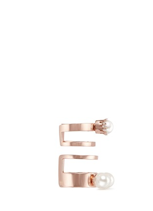 Figure View - Click To Enlarge - Joomi Lim - 'True Innocence' faux pearl two ring set