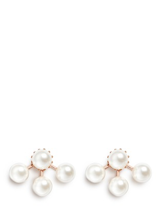 Main View - Click To Enlarge - Joomi Lim - 'True Innocence' faux pearl deco earrings