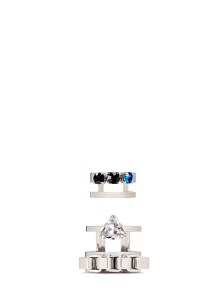 Main View - Click To Enlarge - Joomi Lim - 'Organized Chaos' crystal box chain two ring set