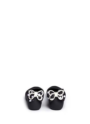 Back View - Click To Enlarge - Melissa - 'Ultragirl Minnie' polka dot bow kids flats