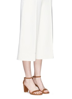 Stuart Weitzman 'Nearly Nude' ankle strap suede sandals