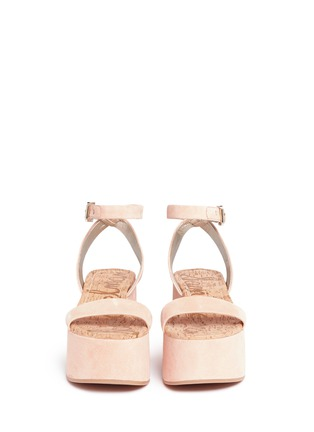 Front View - Click To Enlarge - Sam Edelman - 'Henley' suede platform sandals