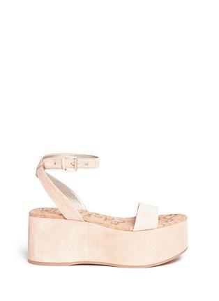 Main View - Click To Enlarge - Sam Edelman - 'Henley' suede platform sandals