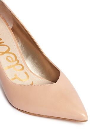Detail View - Click To Enlarge - Sam Edelman - 'Orella' suede trim leather pumps