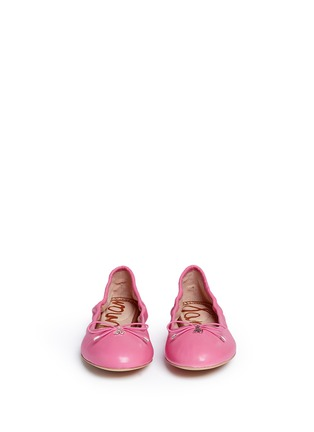 Front View - Click To Enlarge - Sam Edelman - LC-870054712-LTH ROUSCHED BALLERINA