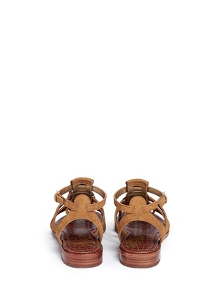 Back View - Click To Enlarge - Sam Edelman - 'Estelle' fringe caged suede sandals