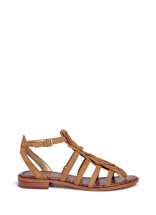 Main View - Click To Enlarge - Sam Edelman - 'Estelle' fringe caged suede sandals