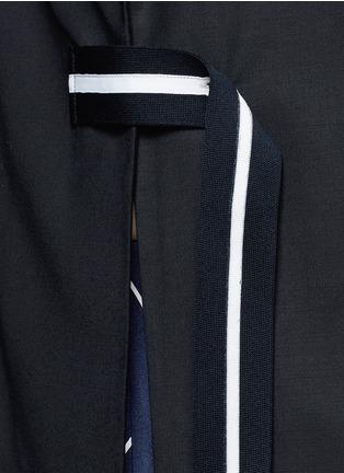 Detail View - Click To Enlarge - FFIXXED STUDIOS - 'Union' stripe belt wool blend blazer
