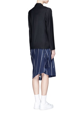 Back View - Click To Enlarge - FFIXXED STUDIOS - 'Union' stripe belt wool blend blazer