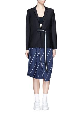 Main View - Click To Enlarge - FFIXXED STUDIOS - 'Union' stripe belt wool blend blazer