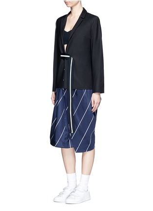 Figure View - Click To Enlarge - FFIXXED STUDIOS - 'Union' stripe belt wool blend blazer