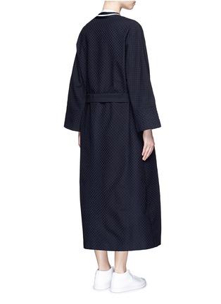 Back View - Click To Enlarge - FFIXXED STUDIOS - 'Emperical' dot jacquard sash waist coat
