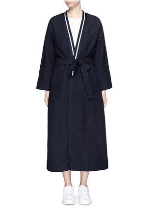 Main View - Click To Enlarge - FFIXXED STUDIOS - 'Emperical' dot jacquard sash waist coat