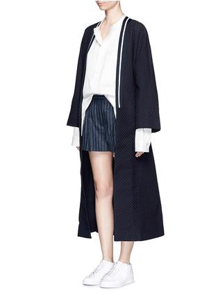Figure View - Click To Enlarge - FFIXXED STUDIOS - 'Emperical' dot jacquard sash waist coat