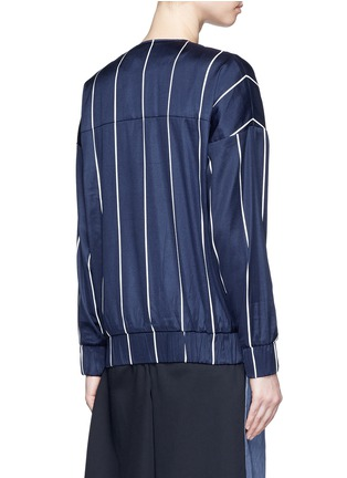 Back View - Click To Enlarge - FFIXXED STUDIOS - 'Unity' stripe silk-cotton bomber jacket