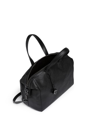 Detail View - Click To Enlarge - Elizabeth and James - 'Scott' crosshatch leather duffel bag