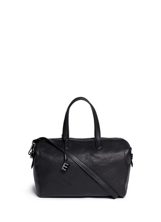 Main View - Click To Enlarge - Elizabeth and James - 'Scott' crosshatch leather duffel bag