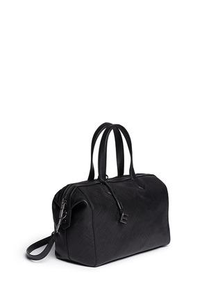 Figure View - Click To Enlarge - Elizabeth and James - 'Scott' crosshatch leather duffel bag