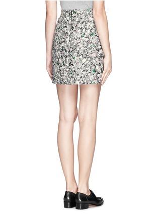 Back View - Click To Enlarge - PROENZA SCHOULER - Carpet pad jacquard skirt