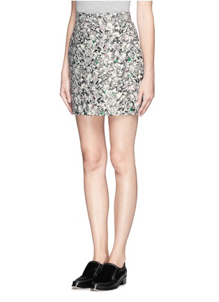 Front View - Click To Enlarge - PROENZA SCHOULER - Carpet pad jacquard skirt
