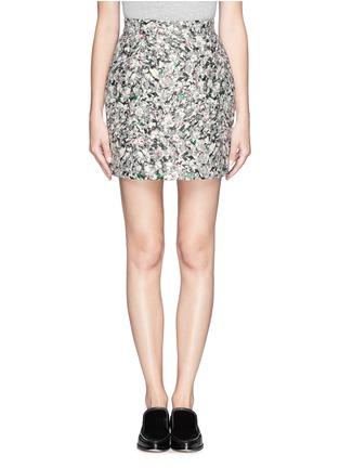 Main View - Click To Enlarge - PROENZA SCHOULER - Carpet pad jacquard skirt