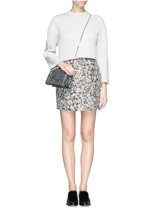 Figure View - Click To Enlarge - PROENZA SCHOULER - Carpet pad jacquard skirt