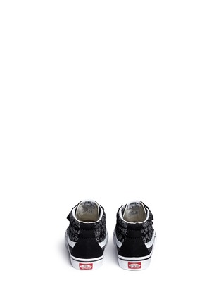 Back View - Click To Enlarge - Vans - 'SK8-Mid Reissue V' bandana print canvas suede toddler sneakers