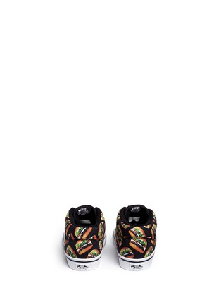 Back View - Click To Enlarge - Vans - 'Half Cab Late Night' hamburger print toddler sneakers