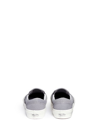 Back View - Click To Enlarge - Vans - 'Classic' braided suede slip-ons