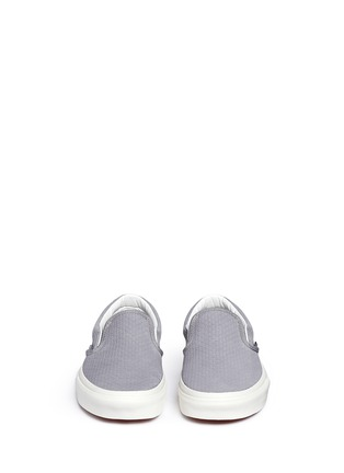 Front View - Click To Enlarge - Vans - 'Classic' braided suede slip-ons