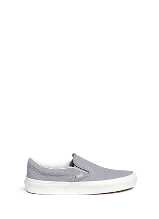Main View - Click To Enlarge - Vans - 'Classic' braided suede slip-ons