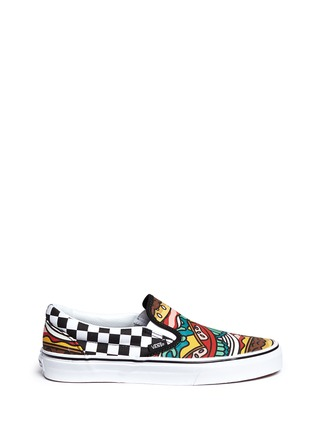 Main View - Click To Enlarge - Vans - 'Classic Late Night' burger print canvas slip-ons