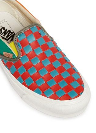 Detail View - Click To Enlarge - Vans - 'OG Classic LX' woven check leather slip-ons