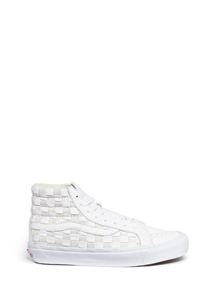 Main View - Click To Enlarge - Vans - 'OG SK8-Hi LX' woven check leather and suede sneakers