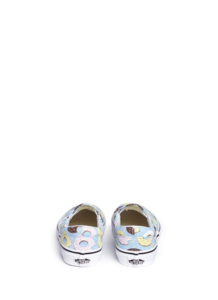 Back View - Click To Enlarge - Vans - 'Classic Late Night' donut print kids slip-ons